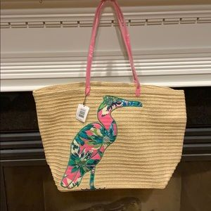 Vera Bradley Seashore Beach Tote Flamingo